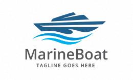 Marine Boat Logo