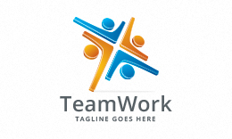 Team Work - People Logo