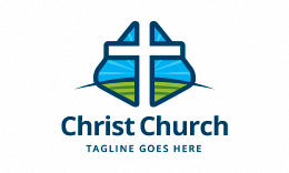 Cross and Landscape - Church Logo