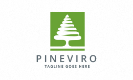 Pineviro - Pine Tree Logo