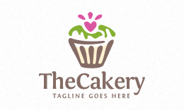 The Cakery - Cupcake Logo