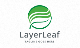 Layered Leaf Logo