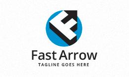 Fast Arrow - Letter F Logo