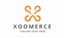 Xoomerce - Connecting Dots - Letter X Logo