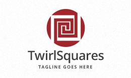 Twirl Squares Logo