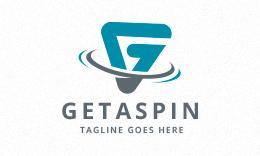 Getaspin - Letter G spin Logo