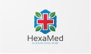 HexaMed - Cross Logo