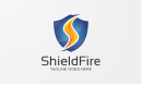 Shield Fire - Security Logo