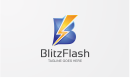 Blitz Flash - Letter B Logo