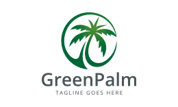 Green Palm Tree Logo