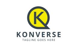 Konverse - Letter K Chat Logo