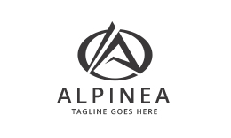 Alpinea - Letter A logo