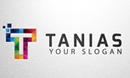 Colorful Letter T Logo
