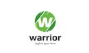 Warrior W Letter Logo