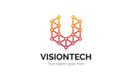 Visiontech Letter V Logo