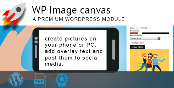 WordPress Image Canvas