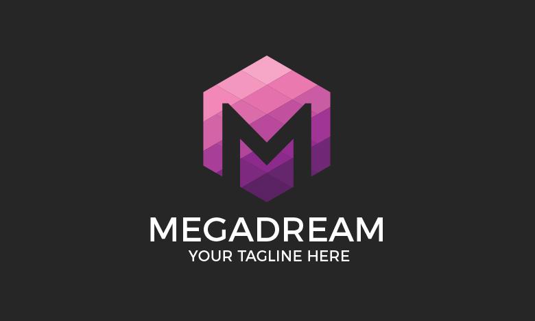 Megadream M Letter Logo