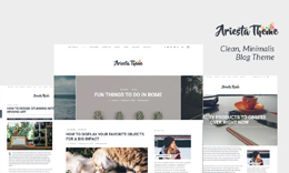 Ariesta - Clean and Minimalist Blog Theme for WordPress