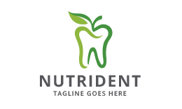 Nutrident - Apple Tooth Logo
