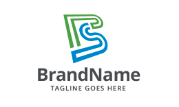 Stylized Letters PS/SP Logo